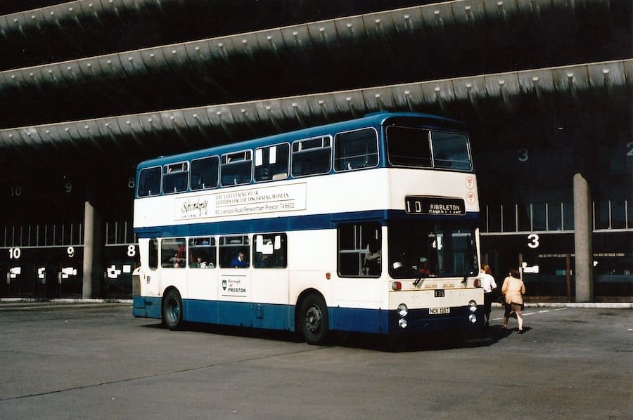 A Preston number 10 bus