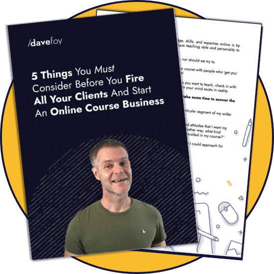 PDF cover - 5 Things To Consider Before You Start An Online Course Business