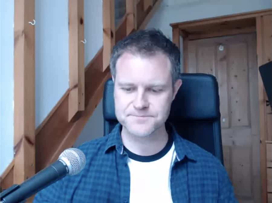 Dave running his first live webinar, April 2017