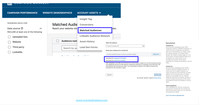 LinkedIn Matched Audiences by Ricardo Ghekiere