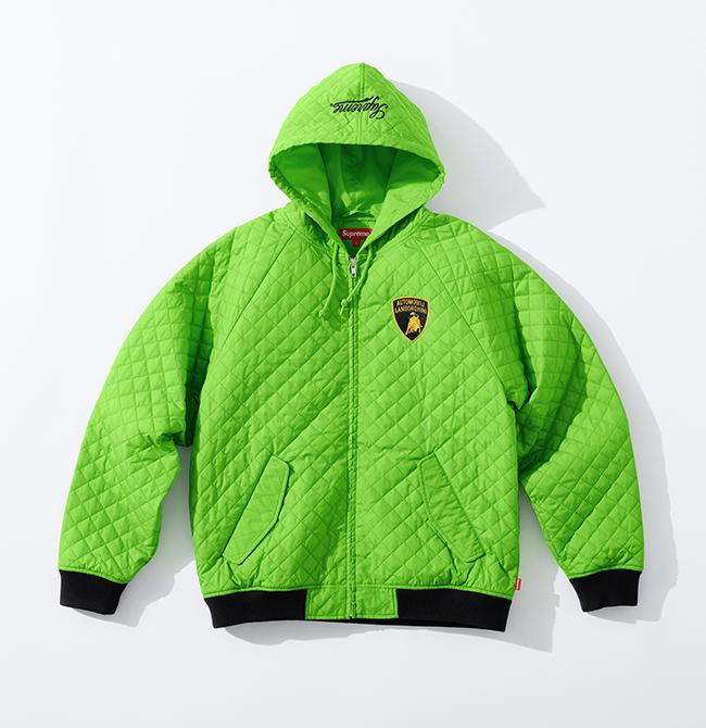 Lime green Lamborghini co-branded Supreme jacket