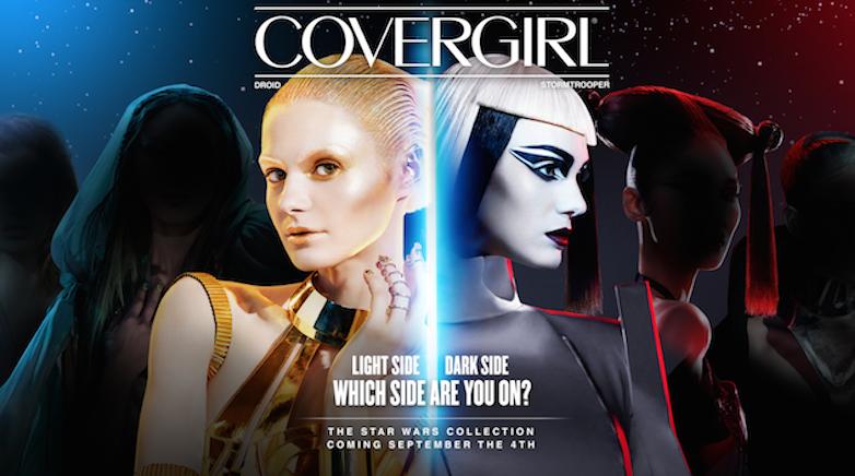 Advertisement for the Covergirl Star Wars collaboration