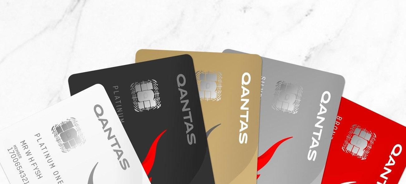 Qantas Frequent Flyer cards fanned out