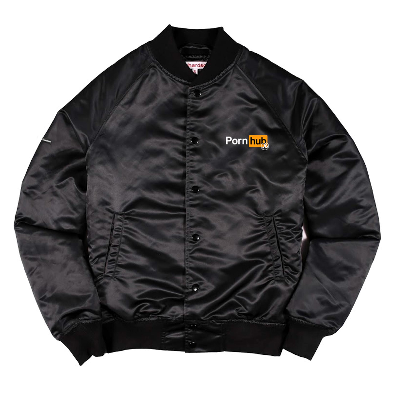 Black Richardson jacket with Pornhub logo