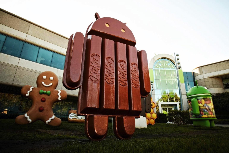 Android shaped KitKat bar