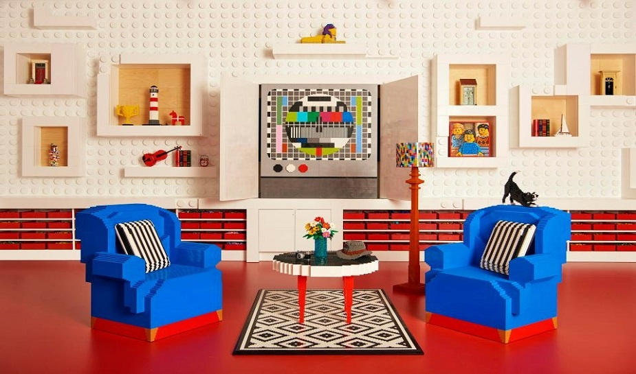 House and furniture made of lego