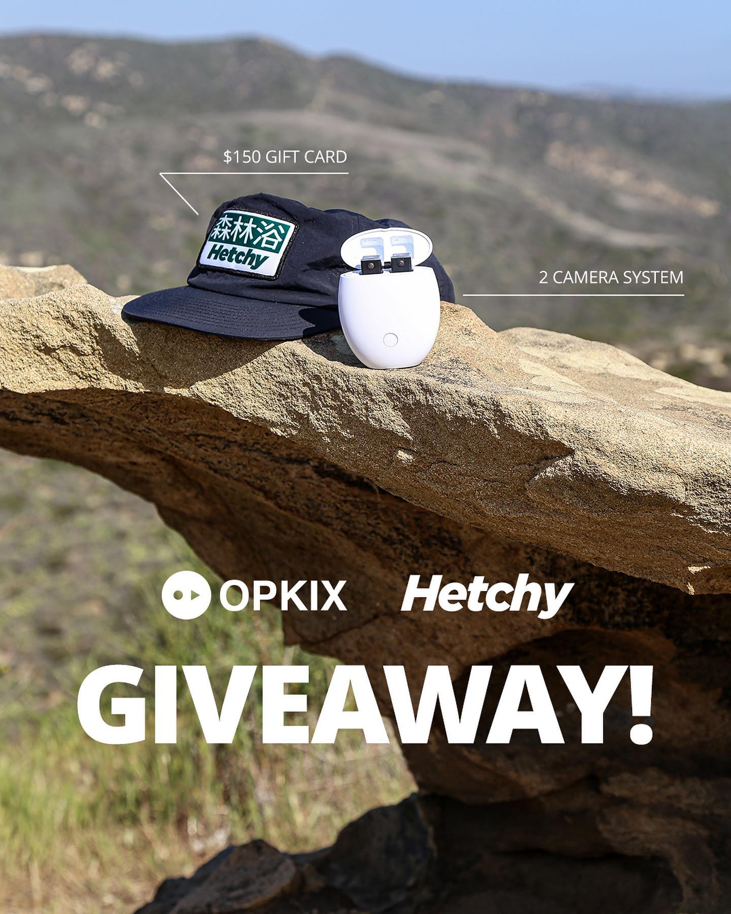 Hetchy Cap and OPKIX system on a ledge in the mountains