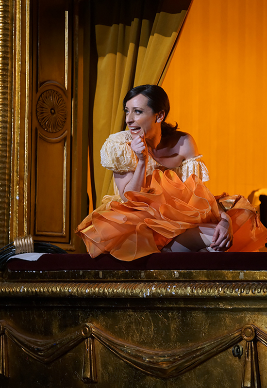 Lidia Vinyes Curtis acting in Iphigenia en Tracia