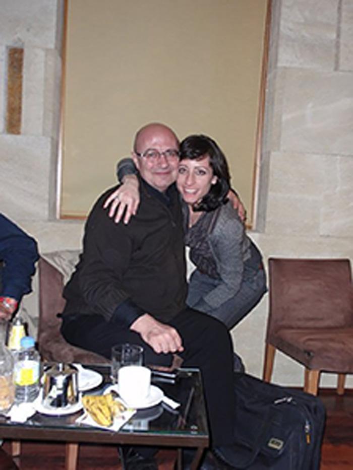 Lidia Vinyes Curtis with David Mason