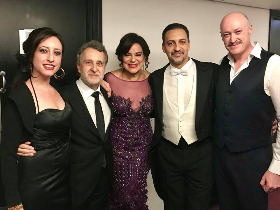 Lidia Vinyes Curtis backstage Barbican Hall -Goyescas 2018 with Maestro J.Pons