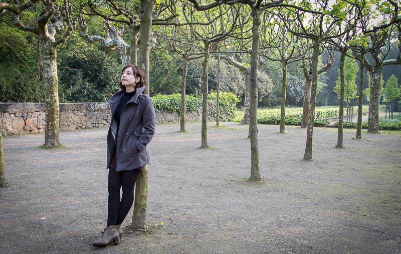 Lidia Vinyes Curtis in a parc