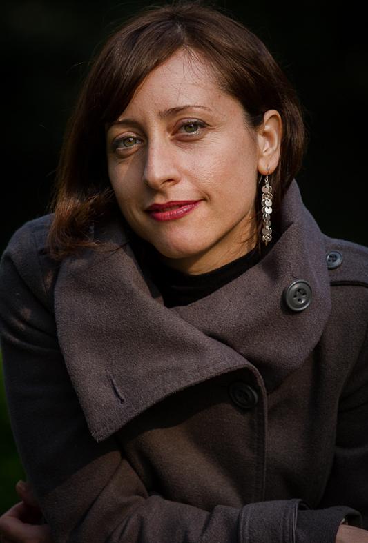 Portrait of Lidia Vinyes Curtis with a coat