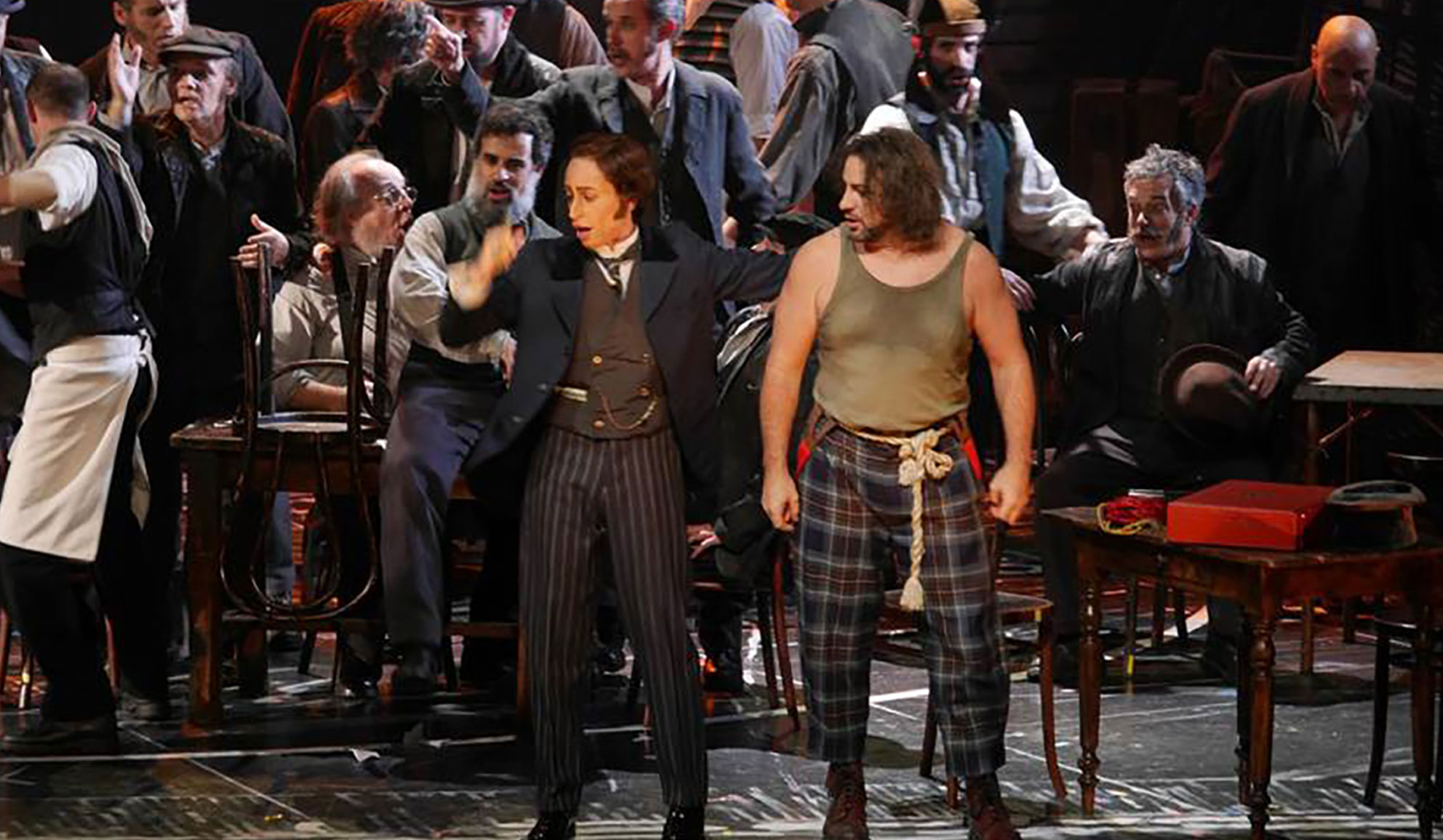 Lidia Vinyes Curtis acting as Ascanio in Benvenuto Cellini at Liceu 2015