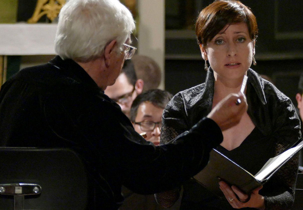 Lidia Vinyes Curtis singing Bach Cantatas in Weimar with H.Rilling. 2015