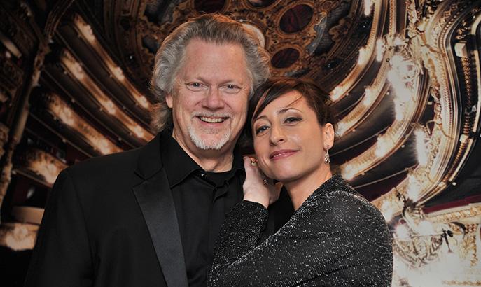 Lidia Vinyes Curtis next to G.Kunde at Liceu
