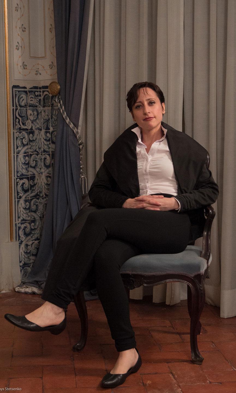 Lidia Vinyes Curtis dressed As Medoro in Palacio Queluz