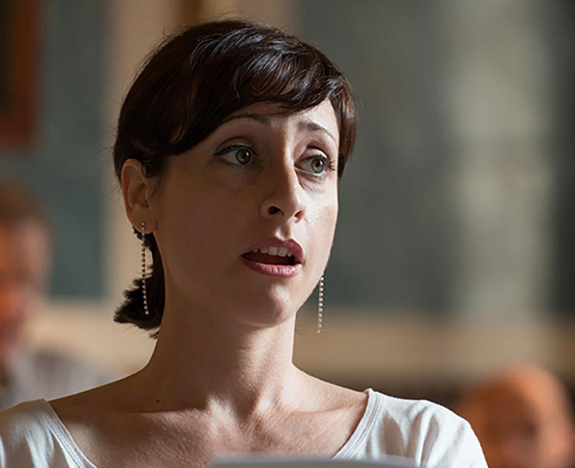Lidia Vinyes Curtis singing at Musikfest Stuttgart