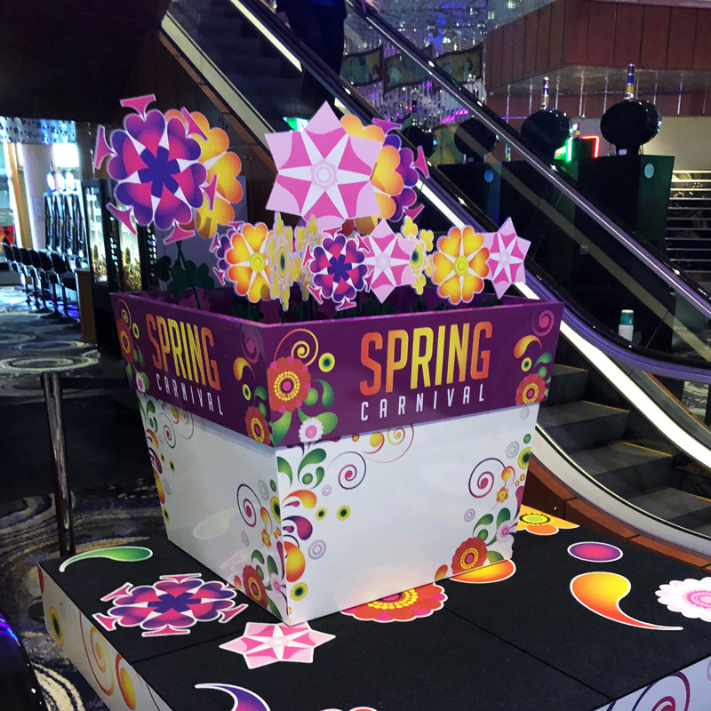 Reef Hotel Casino display stand