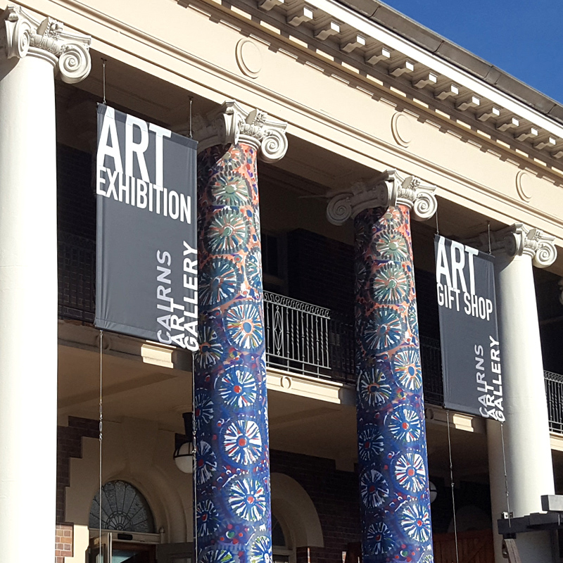 Cairns Art Gallery hanging banners