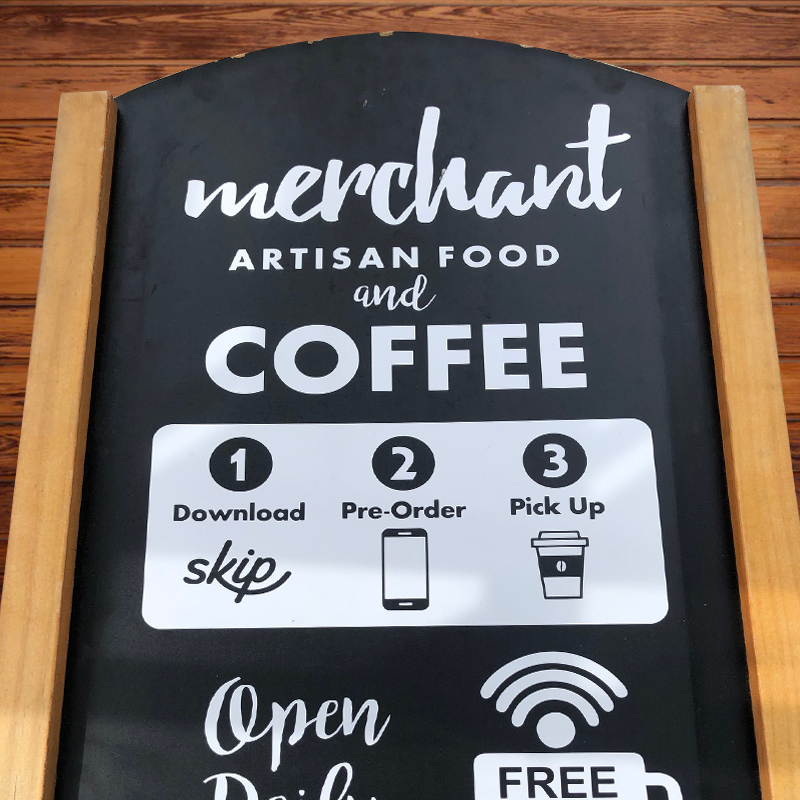 Blackboard a-frame sign