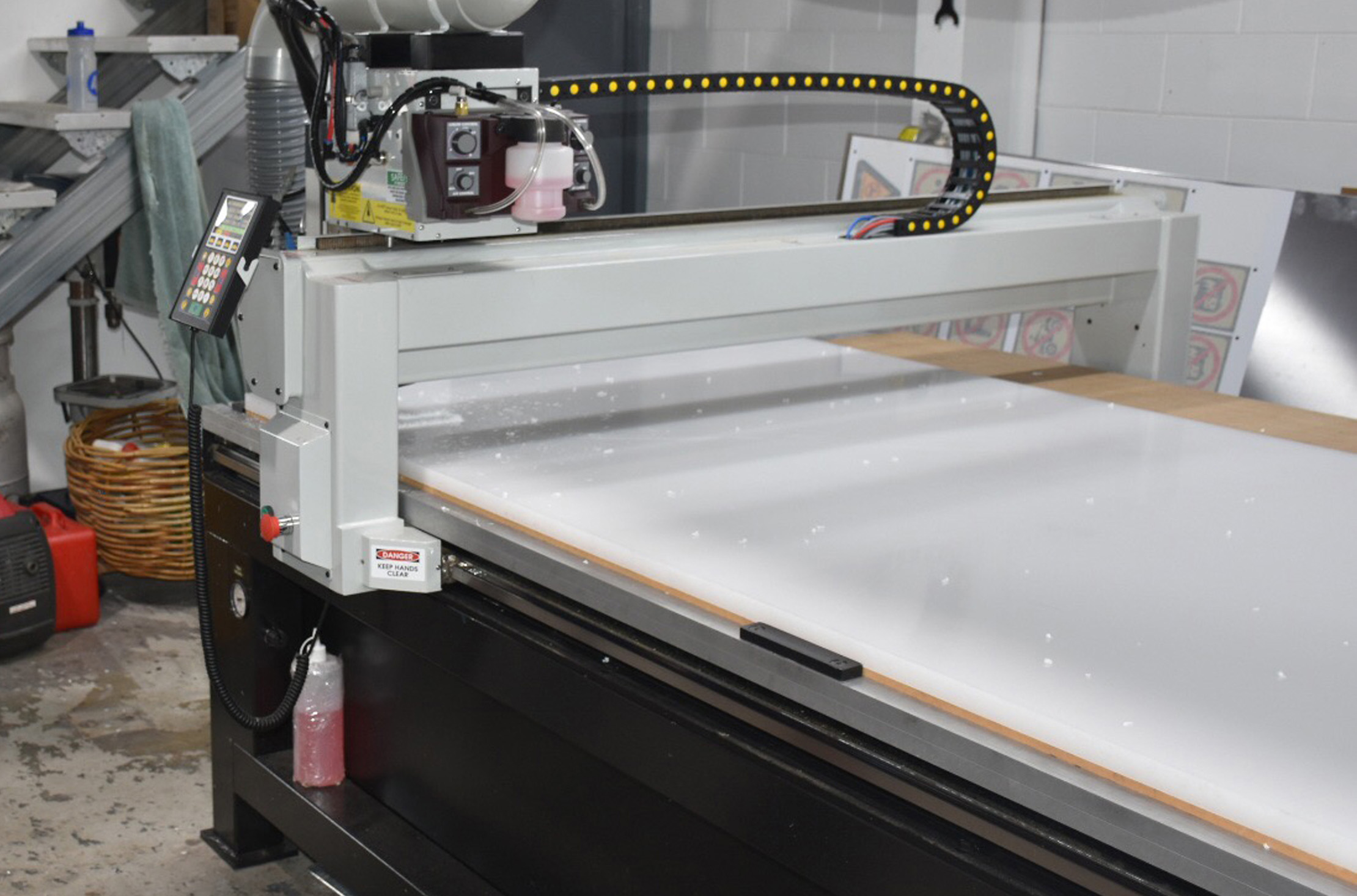 CNC router cut acrylic plastic perspex
