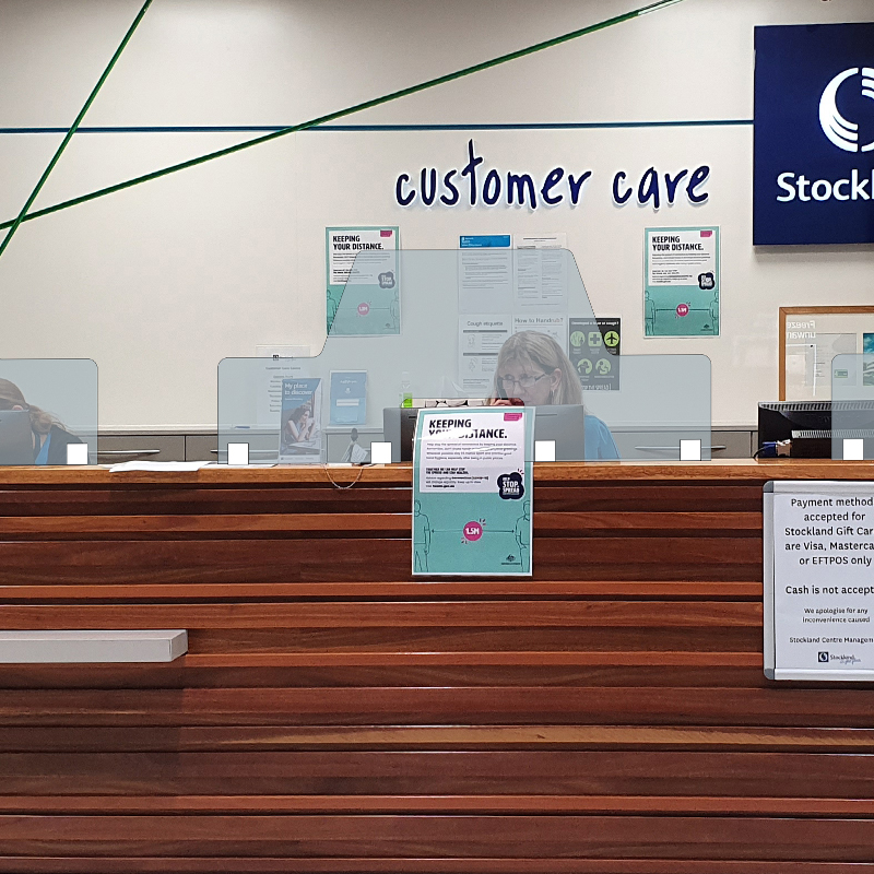 Stockland Cairns Cough Guard Screen