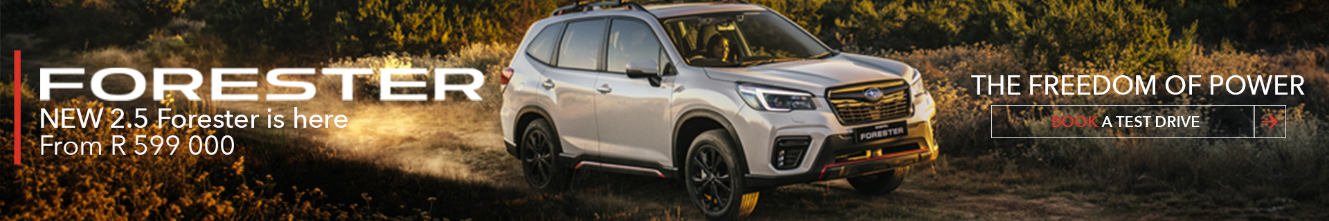The Freedom of Power. In the New Forester Sport 2.5i.