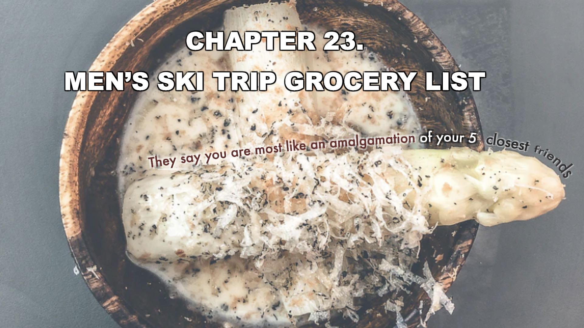 Men's Ski Trip Grocery List