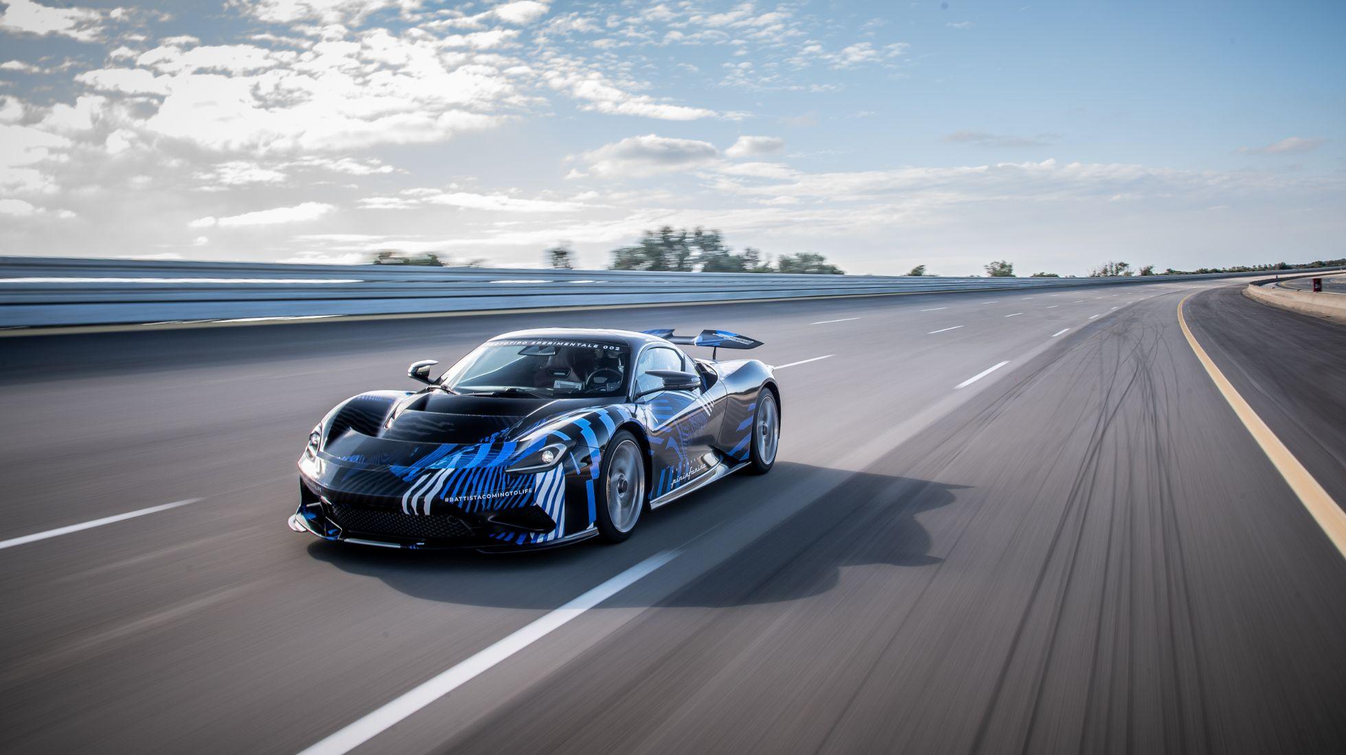 Heidfeld puts the prototype Automobili Pininfarina Battista hyper GT through its paces