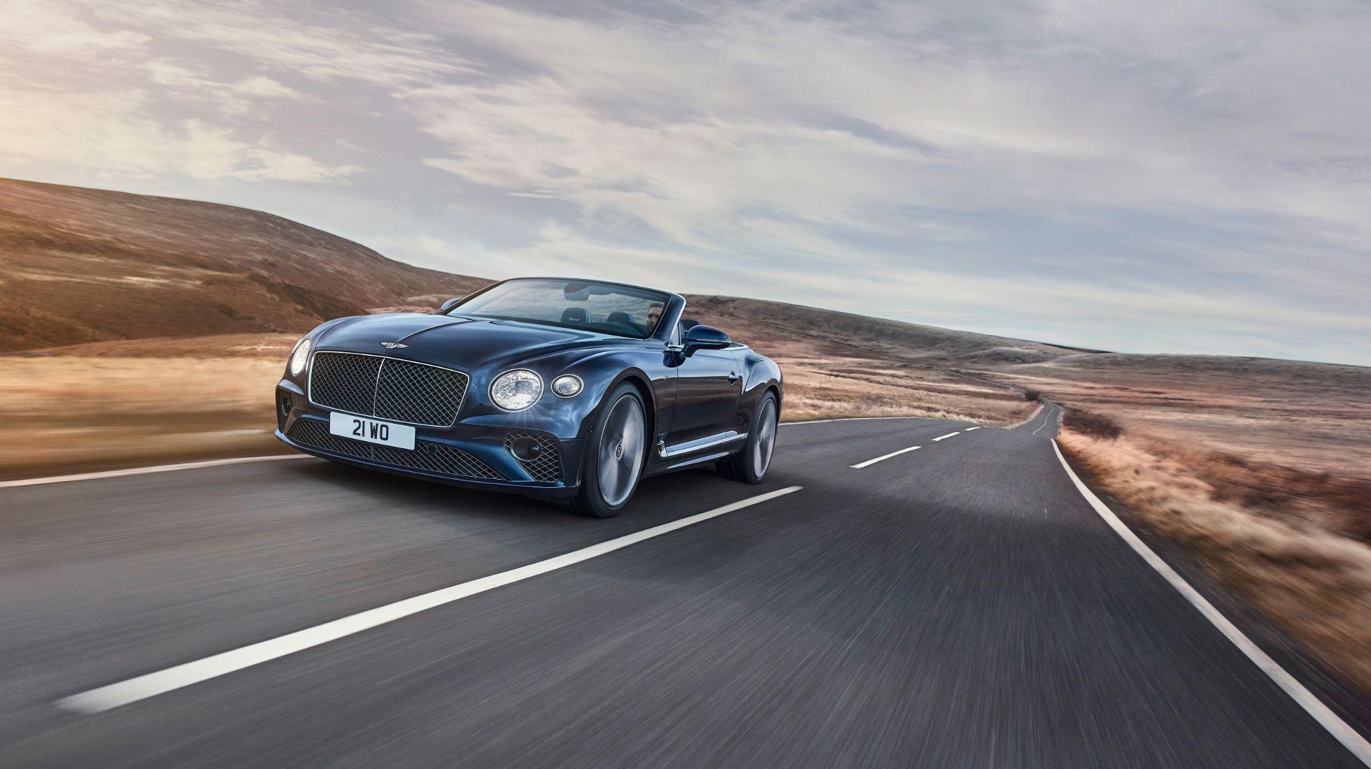 Bentley's Conti GT Speed peels off its roof