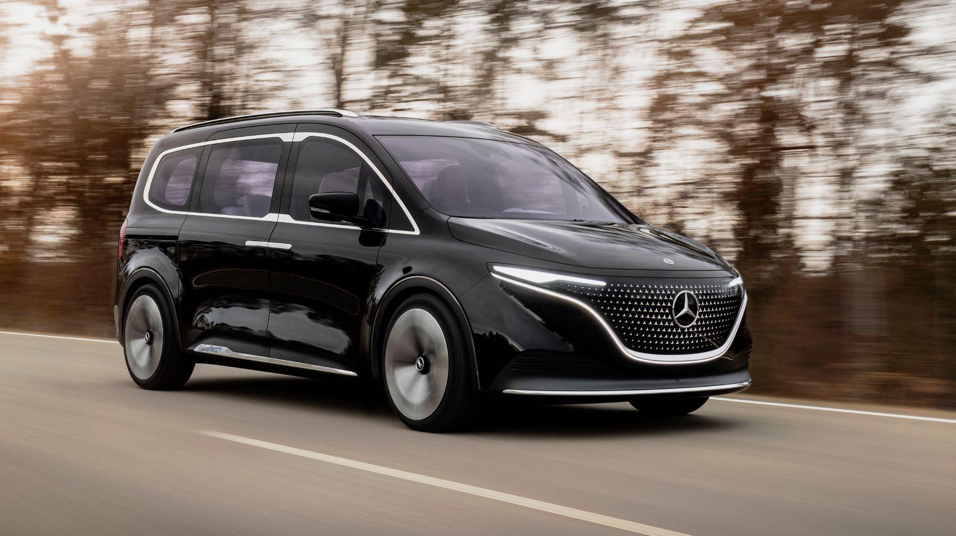 Mercedes-Benz T-Class and EQT all-electric concepts