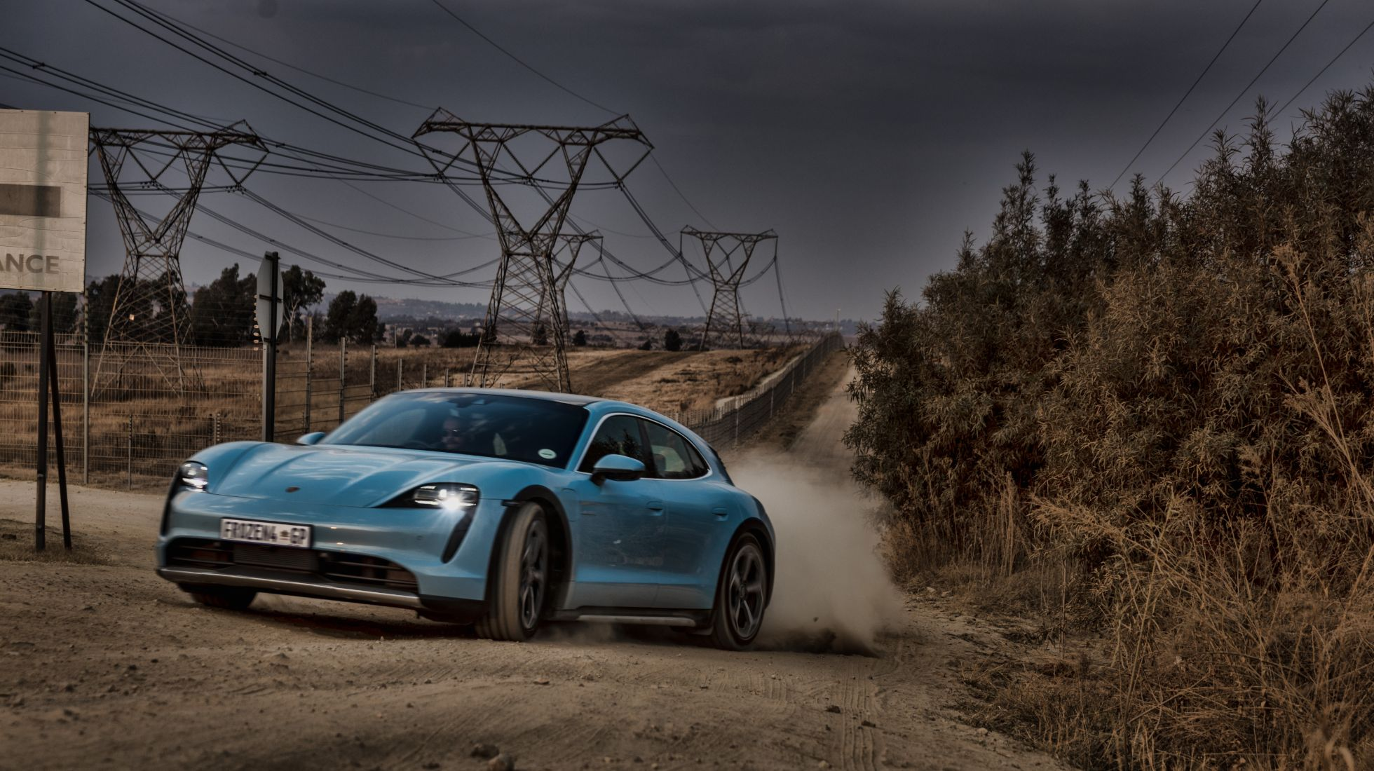 Electric. Eclectic. Estate. We review a Frozen Baby Blue Porsche Taycan 4S Cross Turismo