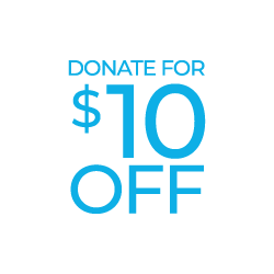 Donate For $10.00 Off