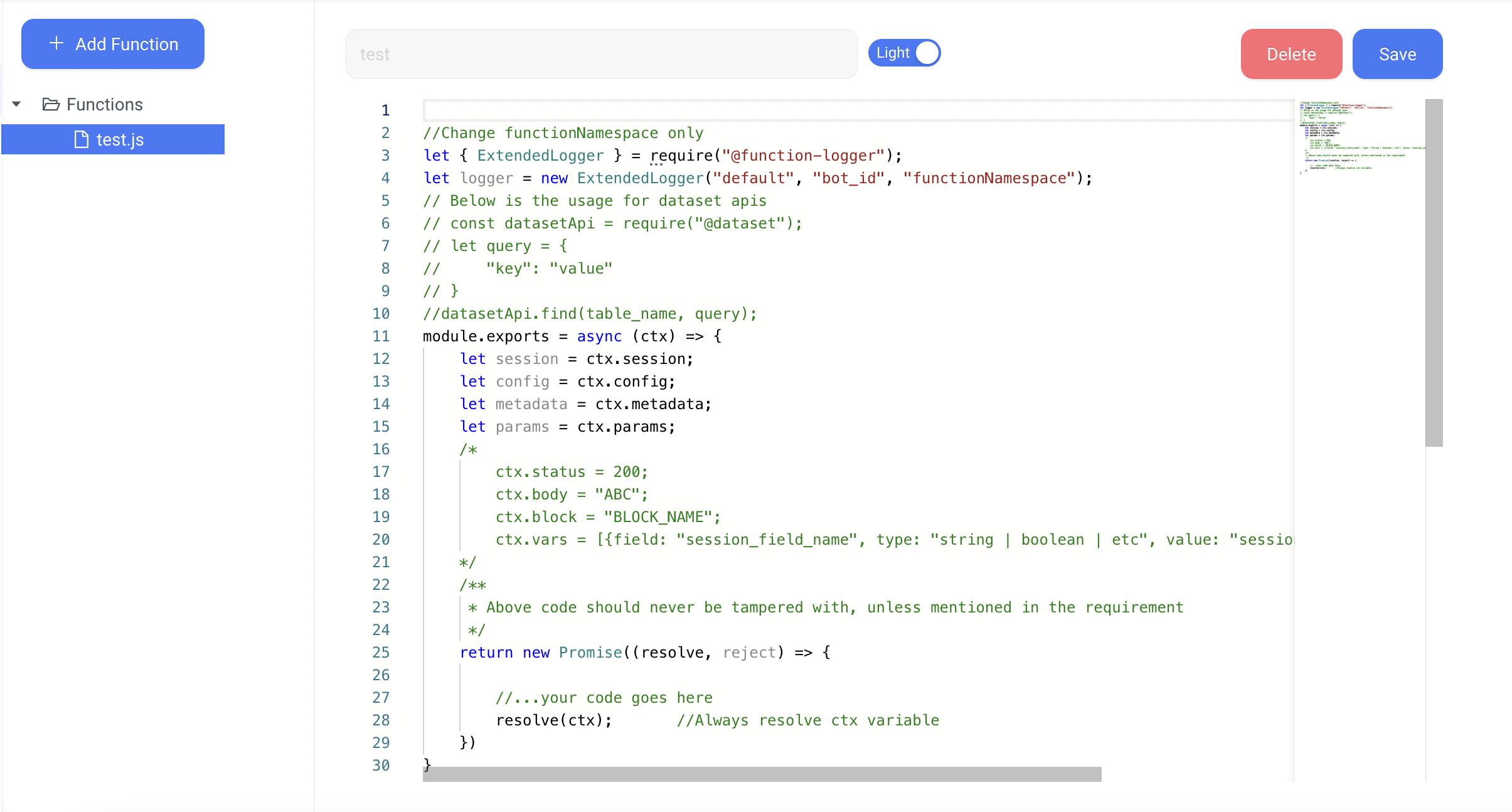 Function Builder on Konverse AI