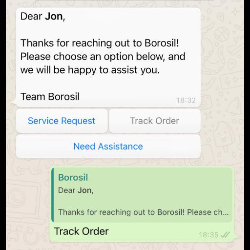 Quick Reply WhatsApp Template Message Konverse AI