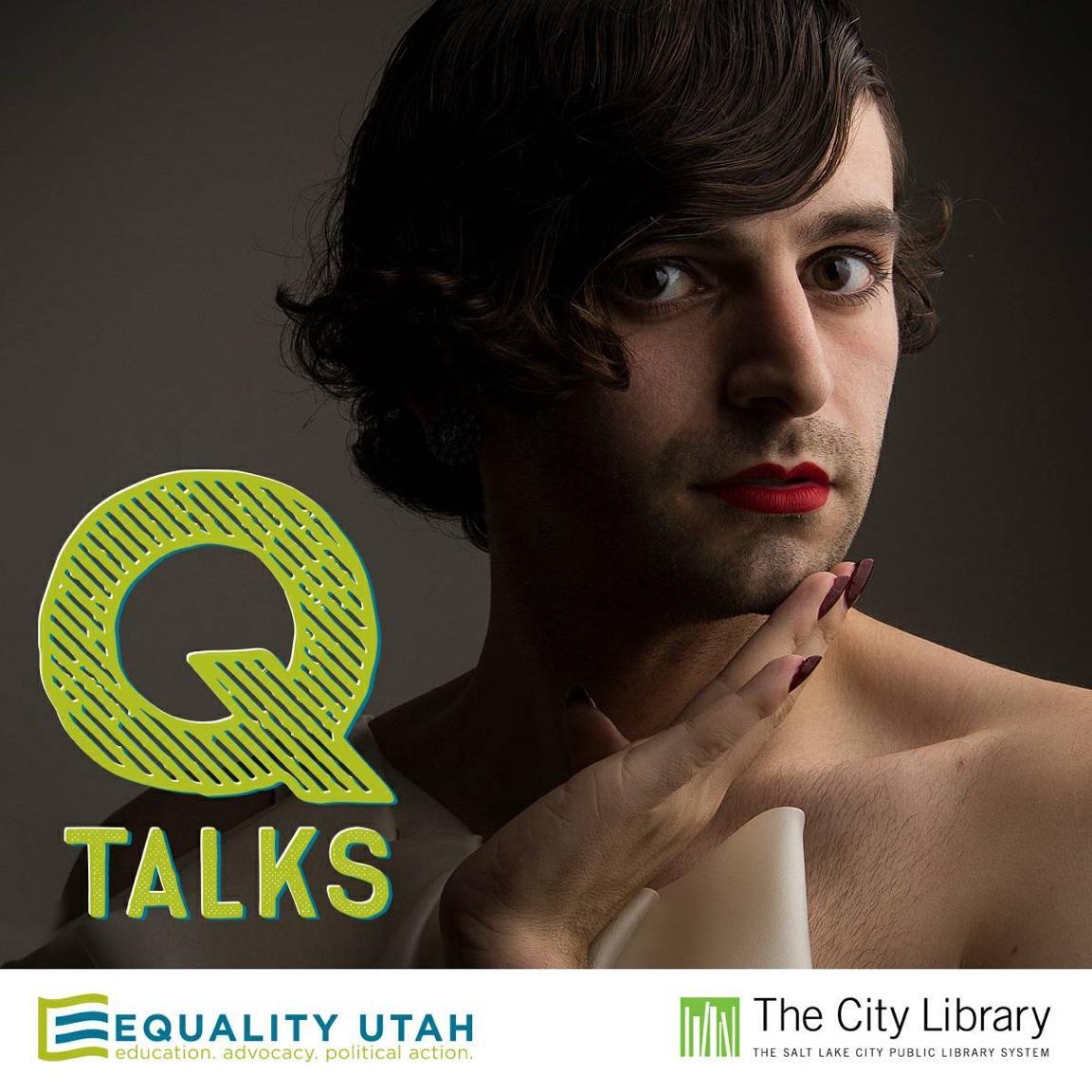 QTalks graphic featuring Jacob Tobia