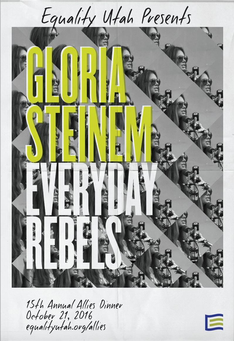 2016 Allies Dinner featuring Gloria Steinem poster