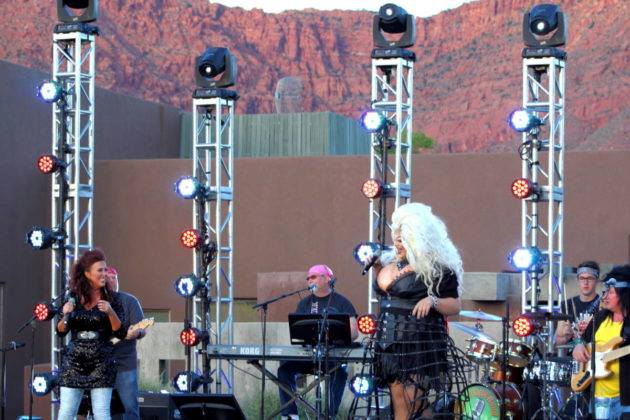 Minerva Shot on stage at the 2017 Equality Celebration
