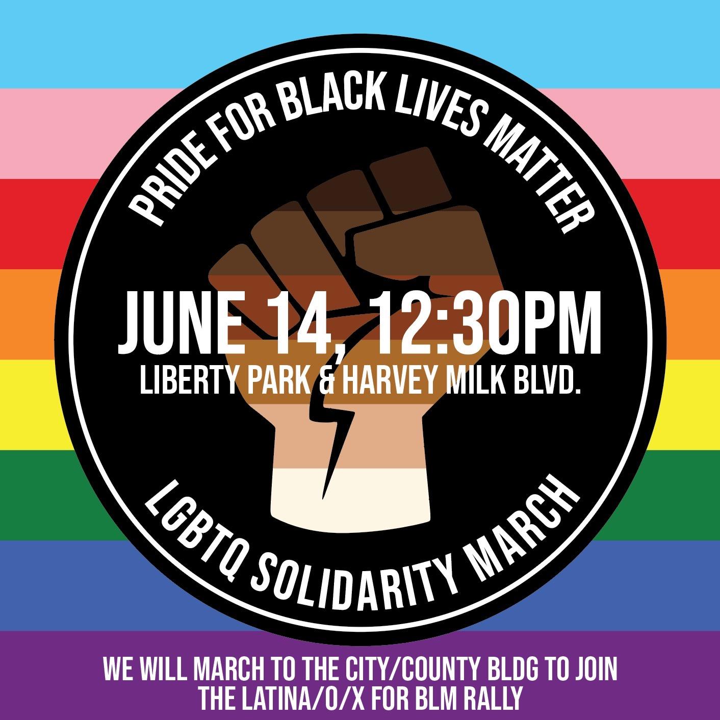 2020 Pride for Black Lives Matter LGBTQ Solidarity March Poster