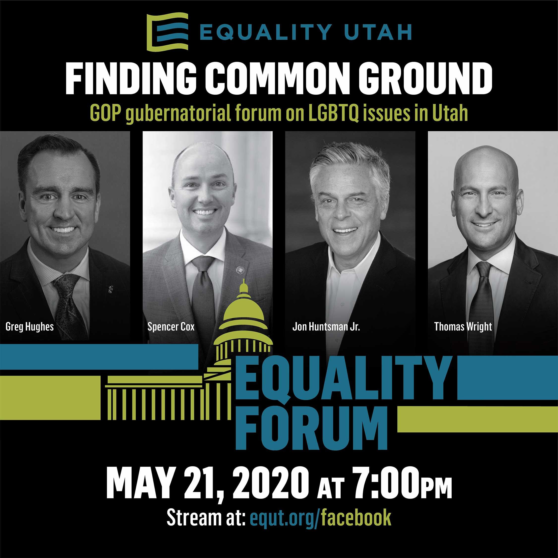 2020 Utah Republican Governor's Forum Poster