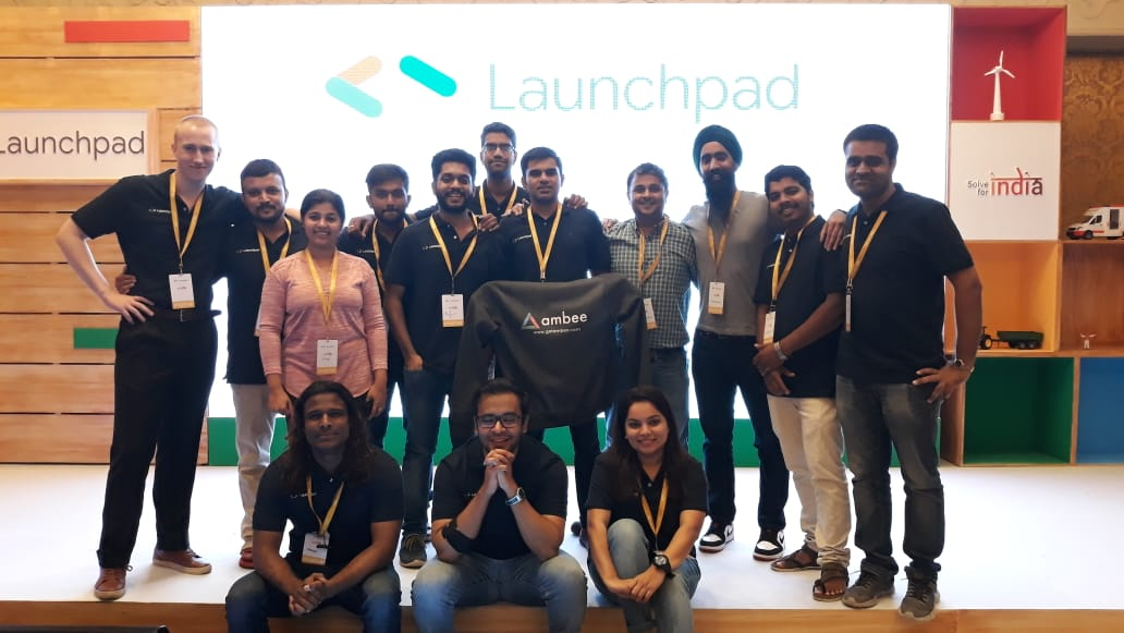 Team Ambee in Launchpad event