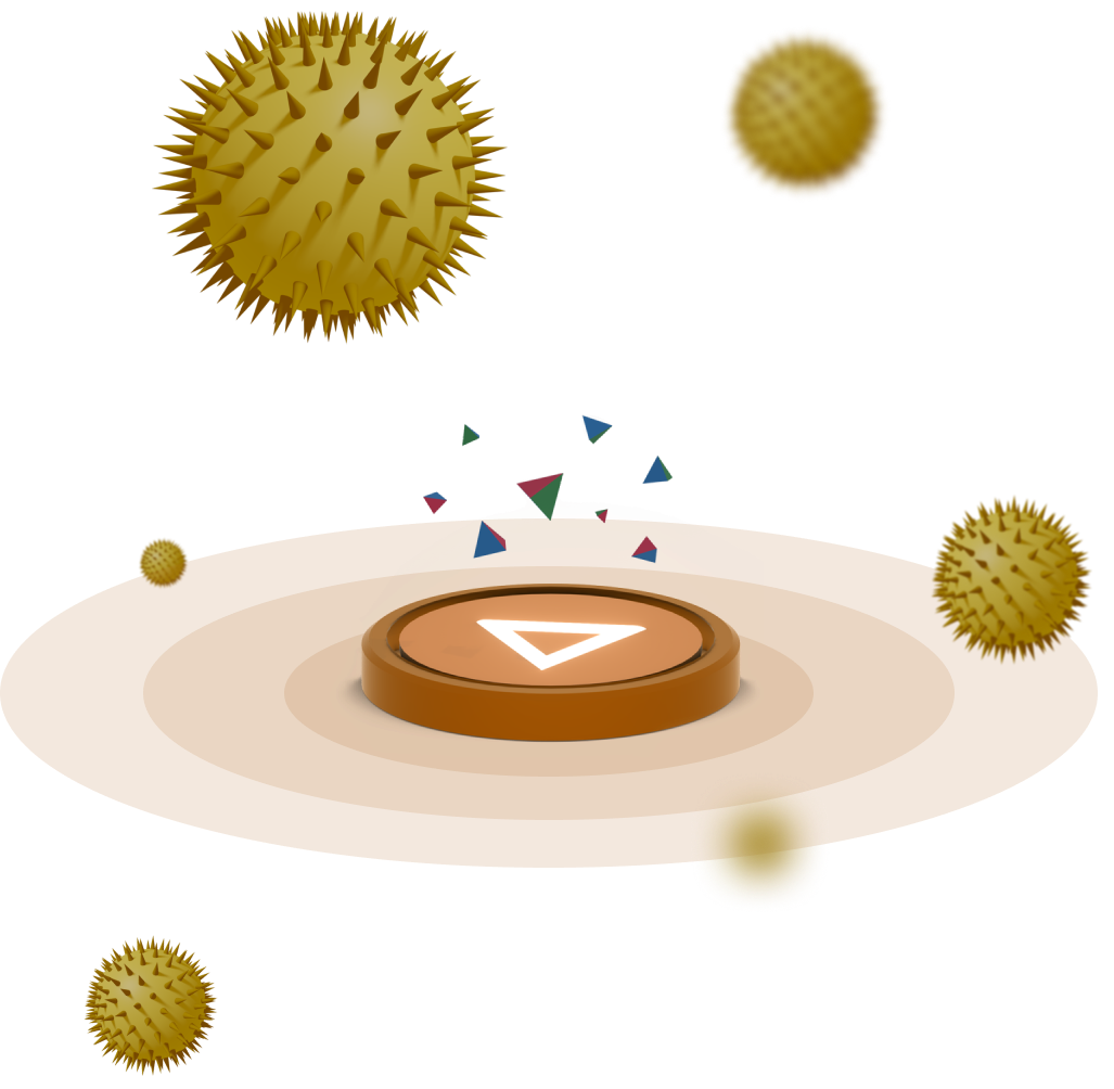 An orange ambee disc giving data of Pollen