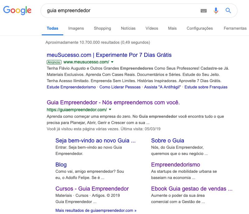 Como anunciar no Google em 8 dicas fáceis: resultados da busca Google