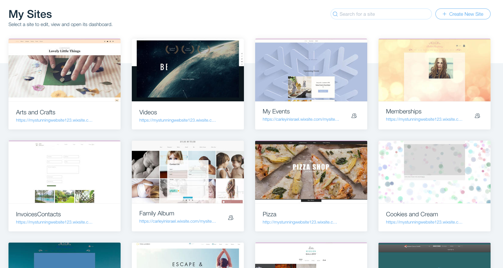 ferramentas de marketing dashboard wix