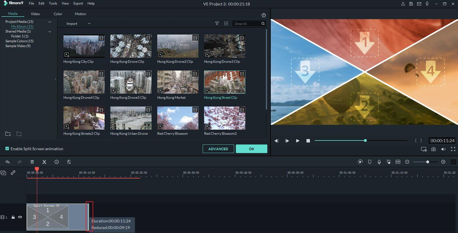 ferramentas de marketing: Filmora dashboard
