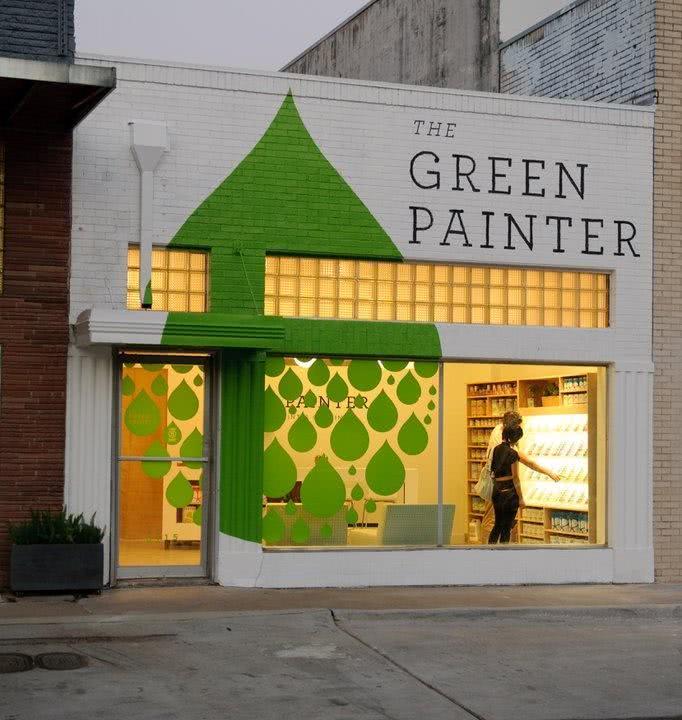 Fachada de loja em madeira | the green painter