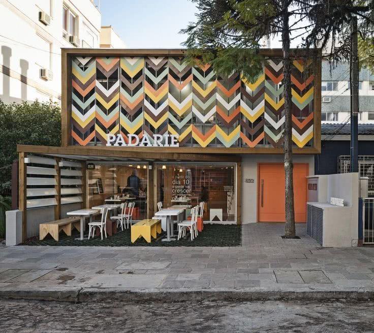 6 Fachada de loja em madeira | Padarie