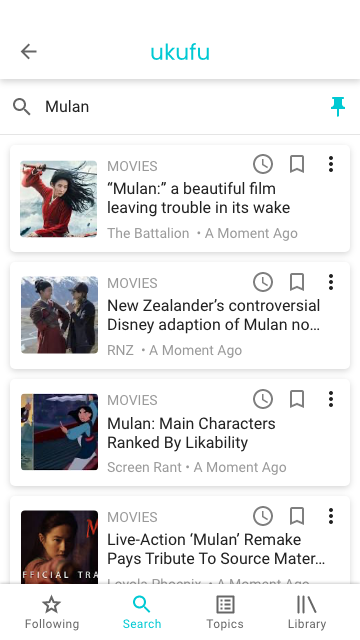 Pinned Search Feed