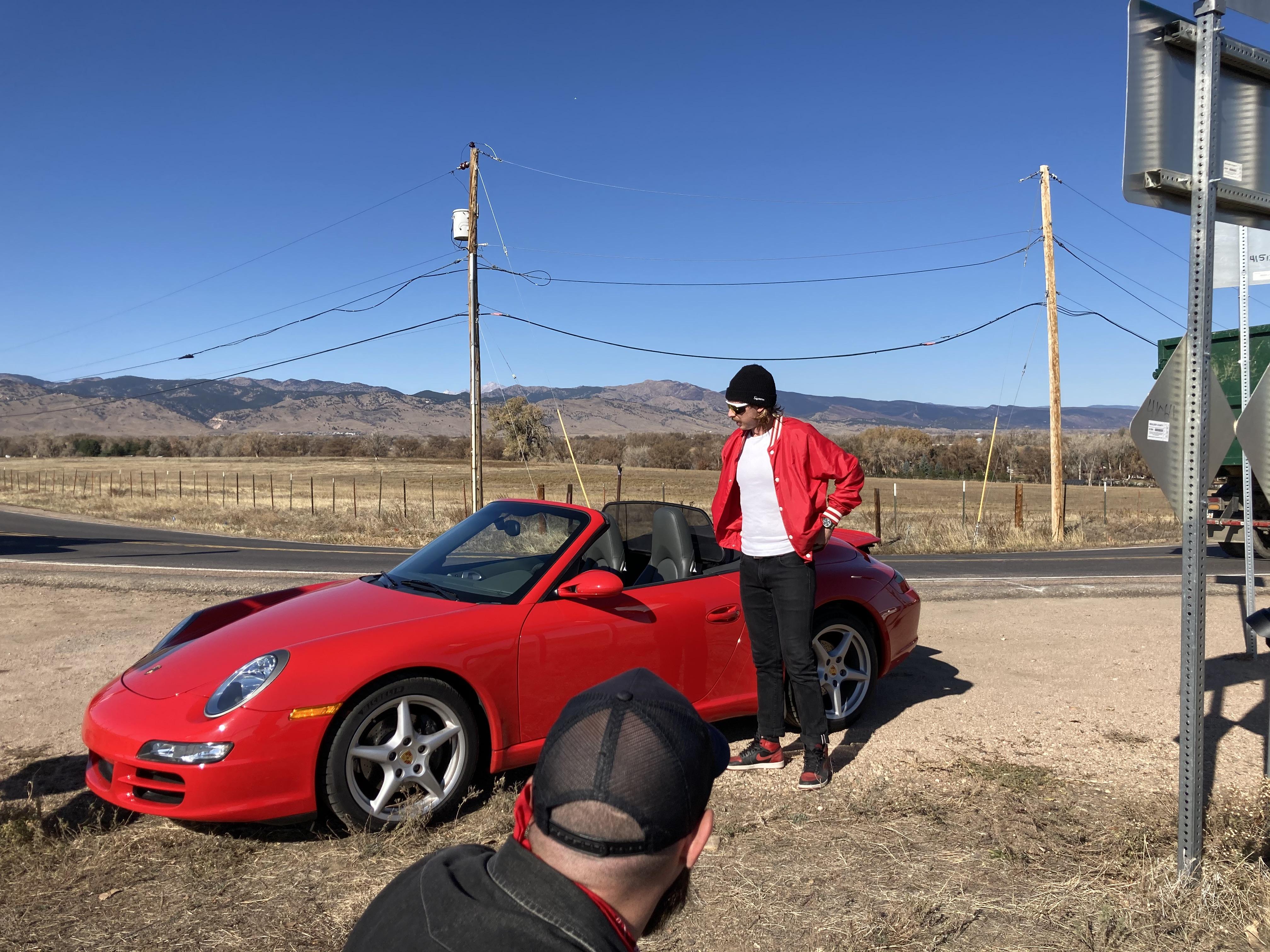 Cherry Red Porsche