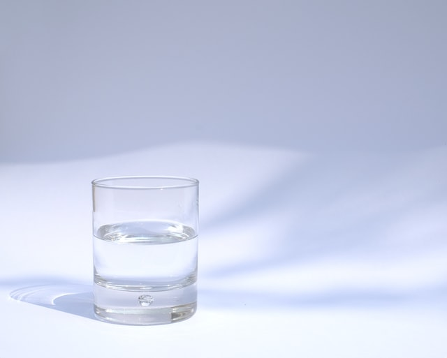 small glass of water
